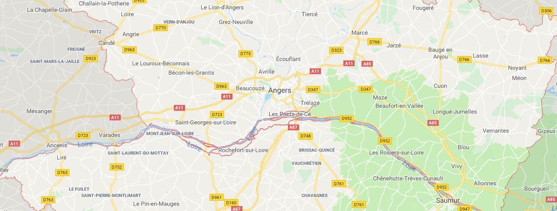 Angers Rapid Serrurier intervention zone géographique